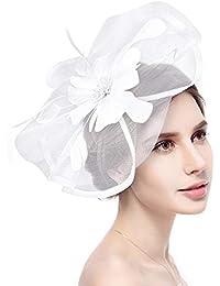 Fascinator Hat Flower Feather Net Mesh Kentucky Derby Tea Party
