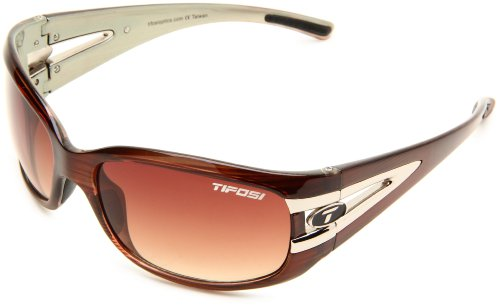 Tifosi Women's Lust Sport Sunglasses,Sage Wood Frame/Brown Gradient Lens,one - Sport Sunglasses Tifosi