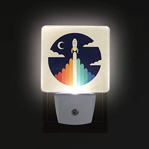 Nosferatu Halloween Horror 2 Pack Plug in LED Night Light Dusk to Dawn Sensor Night Lamp Artistic Pineapple Kids Adults and Nursery Decor Night Light