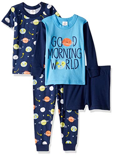 Gerber Baby Boys 4-Piece Pajama Set, Outer Space, 4T ()