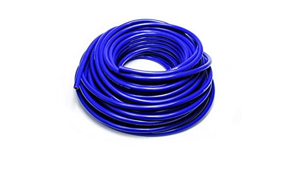 Max Working Pressure 80 psi Max Temperature Rating: 350F Bend Radius: 2-1//2 Bend Radius: 2-1//2 HPS Silicone Hoses HTHH-050-BLUEx100 HPS 1//2 ID Blue high temp reinforced silicone heater hose 100 feet roll