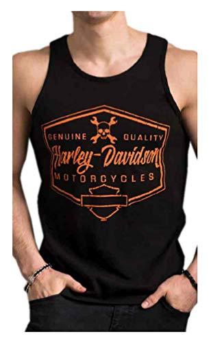 Harley-Davidson Men's Distressed Tantrum Sleeveless Tank Top - Solid Black (3XL)