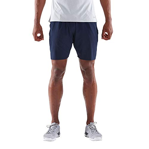 Skins Men's Activewear Square Mens Short 7 Inch Navy Blue S, Blue, Small