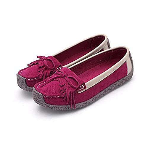 b4b45eee299 Yougao Women s Suede Tassel Driving Slip-On Penny Loafers Boat Shoes Flats  lovely