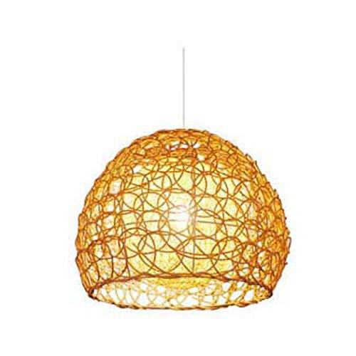 BDHBB Woven Light, Rustic Global Round Woven Lamp Shade Farmhouse Chandelier Lighting, Tavern Pendant Lighting Chandeliers for Dining Rooms,5 (Tavern 5 Lamps)