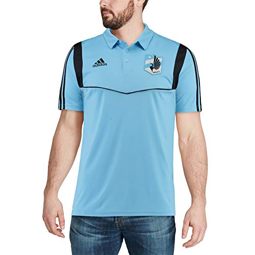 adidas Minnesota United FC Men's Team Logo Coaches Climalite Performance Polo Shirt (Large)