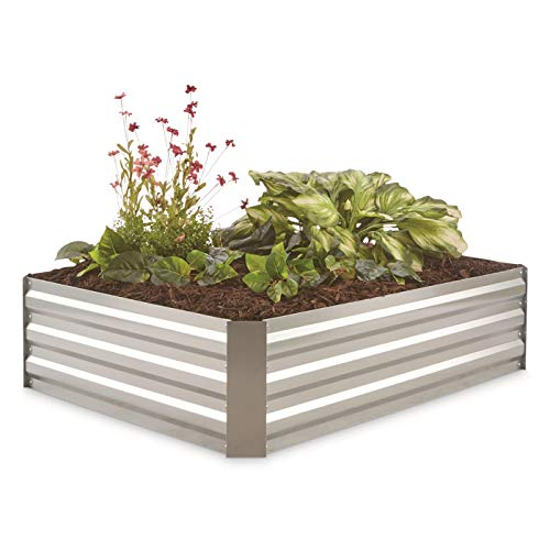 - CASTLECREEK Galvanized Steel Planter Box, Medium