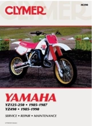 amazon com clymer repair manual for yamaha yz125 yz250 yz490 85 90 rh amazon com yamaha yz 125 owners manual YZ125 2 Stroke