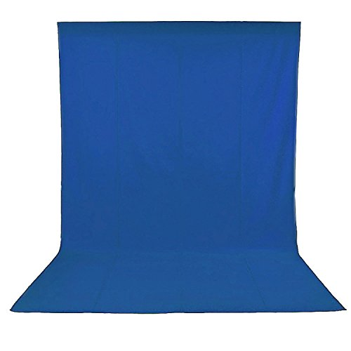 Neewer 6 x 9ft/1.8 x 2.8M Photo Studio 100% Pure Muslin Collapsible Backdrop Background for Photography,Video and Television(Blue)