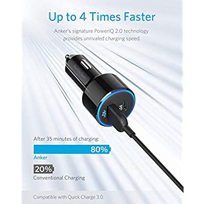 USB C Car Charger, Anker 49.5W PowerDrive Speed+ 2 Car Adapter with One 30W PD Port for MacBook Pro/Air (2020), iPad Pro (2020), iPhone XS/Max/XR/X/8, One 19.5W Fast Charge Port for S9/S8 (Renewed)
