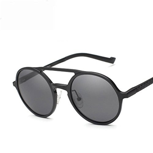 Sol Marco De Moda Retro Gafas De Lentes UV Lentes Aluminio Moda Polarizadas De De De Sol Magnesio Gold La Unisex Silver Vendimia De Negocios Gafas Redondo Protección De Gafas Sol wXPqvT