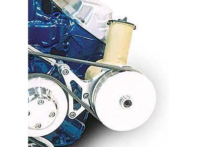 March Performance 30035 Deluxe Clear Powdercoat Aluminum Ford 302 Power Steering Bracket