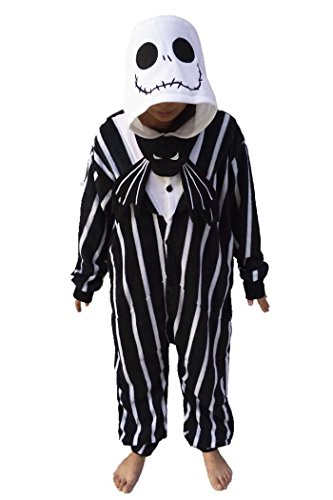 [The ShielD? Animal Cosplay Costume Unisex Adult Pajamas Jack SkullLarge] (Ny Costumes Rental)