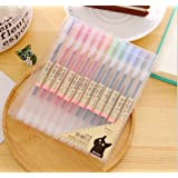Colorful Gel Pen [12 in a Pack] - 0.5 mm Fine Tip Pen with Non Toxic, Odor Free, Neutral Gel Ink. Office Stationery