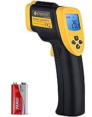 Etekcity Digital laser infraröd termometer IR pyrometer kontaktlös temperaturmätare temperaturmätare, -50 till 750 °C, LCD-belysning (inte för människor)