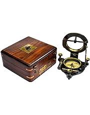 SAILOR'S ART Antique Brass Heavy Sundial Compass