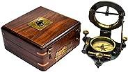 SAILOR'S ART Antique Brass Heavy Sundial Com