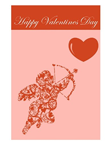 Happy Valentine's Day Garden Flag - Double Sided Yard Flag - Cupid and Arrow Heart Design - Pink & Red Colors 12