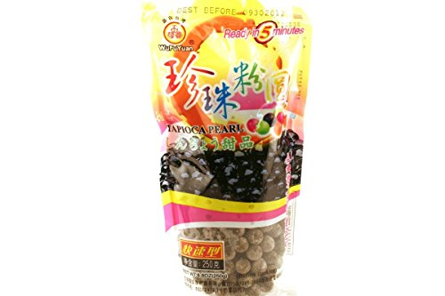 - WuFuYuan - Tapioca Pearl Black 8.8 Oz / 250 G (Pack of 4)