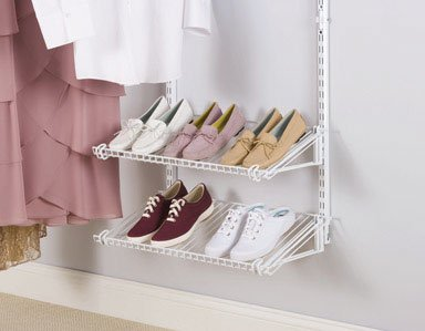 SHOE SHELVES RUBBERMAID by RUBBERMAID MfrPartNo 3H94-03-WHT (Rubbermaid Shoe Organizer)