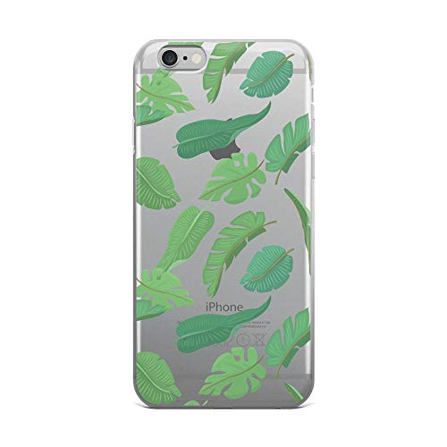 (iPhone 6 Plus/6s Plus Pure Clear Case Cases Cover Seamless Pattern with Tropical Leaves)
