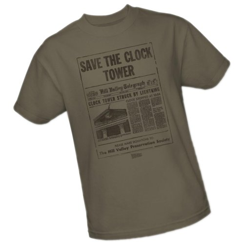 Universal Studios Clock Tower - Back To The Future Adult T-Shirt, XX-Large (Back To The Future Clock Tower Universal Studios)