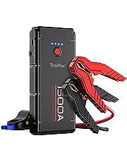 Trekpow Starthilfe Powerbank,[3.Generation mit QDSP], QC3.0, USB-Ladeanschluss, LED-Taschenlampe, mit intelligentem kabel