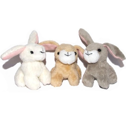 2a1af226e55 Pack of 3 Small Bunny Rabbit Soft Cuddly Toys  Amazon.co.uk  Toys   Games