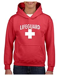 Xekia Lifeguard in White Couples Hoodie For Girls and Boys Youth Kids
