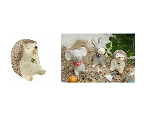 FenBuGu-JP DIYマイクロヘッジホッグの風景の装飾ミニ樹脂の動物の庭(ライトブラウン)の商品画像