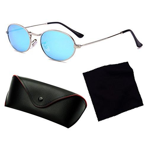 plástica Vintage lente gafas C4 metal mujeres gafas pequeñas de hombres de marco Highdas ovaladas sol UavvR