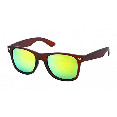 imprimé de nbsp;UV de soleil animal marron Lunettes Lunettes Chic Marron miroir Net Wayfarer nerd effet 400 nW0UaEAI1