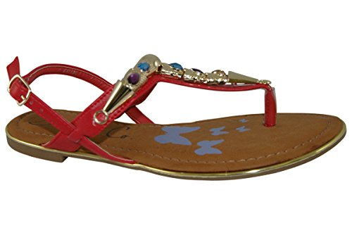 Zanni and Co - Sandalias de vestir para mujer * Auditor Value Red