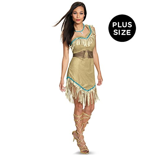 Disguise Women's Pocahontas Deluxe Adult Costume, Multi, X-Large - Pocahontas Halloween Costumes Adults