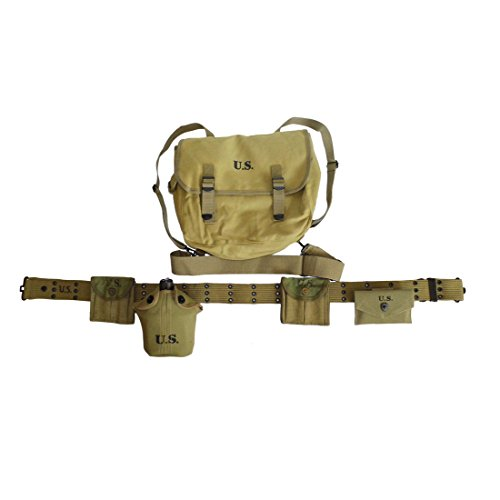 (HOME DAILY SALE WW2 WWII US Paratrooper Officer Webbing Belt M36 Haversack Musette Backpack Full Set Equipment)