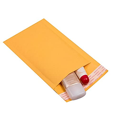 Small Padded Envelopes 3x5 - Pack of 20 - Bubble Yellow Kraft Bag Mailers - Mailing Envelopes - 3 Kraft Bubble