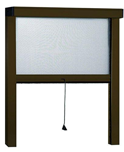 Marrone Irs 75430 Zanzariere Sottili Verticale 100 x 250 cm