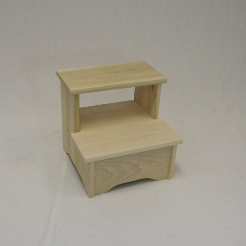 Amish Handcrafted Solid Wood Bed Stool-lmb- Unfinished by eHemco
