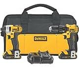 Cordless Drill Driver - DEWALT DCK280C2 20-Volt Max Li-Ion 1.5 Ah Compact Drill and Impact Driver Combo Kit