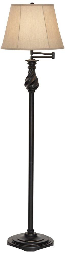 Restoration Bronze Swing Arm Floor Lamp by Regency Hill