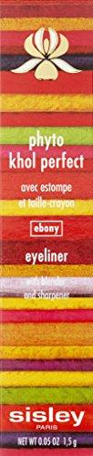 Sisley Phyto Khol Perfect Eyeliner with Blender and Sharpener for Women, 10 Ebony, 0.05 Ounce by Sisley (Image #3)