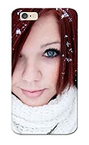 Tpu Case Cover Design Compatible For Iphone 6/ Hot Case/ Redhead In The Snow