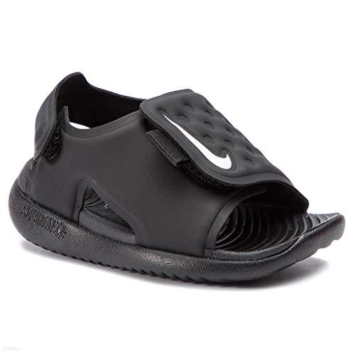 Nike Boy's Sunray Adjust 5 Toddler Sandal, Black/White, Size 7 M US Toddler