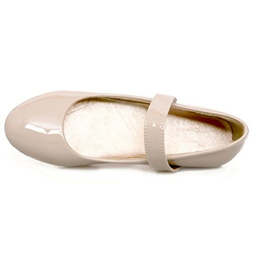 Shoes Girl New Little Big Jane Adorable Flat KemeKiss Girl apricot Mary Velcro Ballerina Strap q4wUFA
