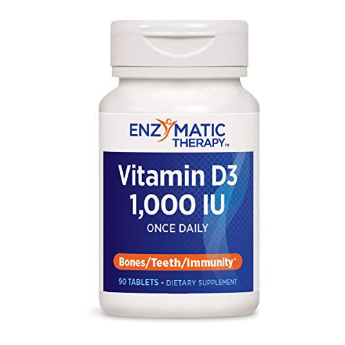 Enzymatic Therapy Vitamin D3 1000 IU Once Daily, 90 Count