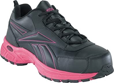 7e343c9dd21b Reebok Work Ateron RB482 Womens Black Pink EH Steel Toe Athletic Cross  Trainer Shoes