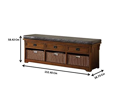 Coaster 501060 Home Furnishings Storage Bench, Medium Brown