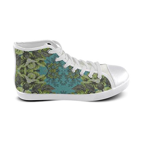 Artsadd Vintage Flowers High Top Canvas Shoes For Women (Model002) NLm1SQbnt