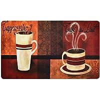 Premium Comfort Kitchen Mats (2-Pack) (Cafe Moderno Dahlia)