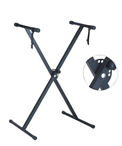 Amazon.com: Soporte para teclado Regulable en altura. Plegable. Color: negro: Musical Instruments